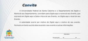 Modelo De Convite UFSC